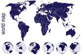 Dünya küre ile dünya haritası — Stok fotoğraf