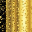 Ellegant background in gold and black — Stock Photo