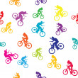 Colored pattern with bikers — Stock fotografie