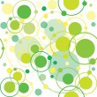 Green circles and dots pattern — Stock Photo