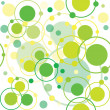 Stock Photo: Green circles and dots pattern