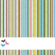 Stripes background with hearts — Foto de Stock