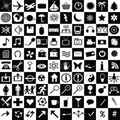 黑色和白色 web 图标 — 图库照片