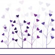 Love purple forest , hearts foliage — Stock Photo #3034988