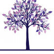 Abstract tree with purple leaves — Stock Photo