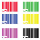 Collection of colored bar codes — 图库照片