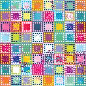 Fond rétro avec des carrés de couleur — Photo