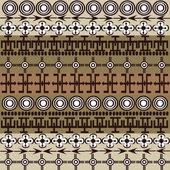 African ethnic symbols background — Stock Photo