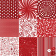 Background collection in red tones — Stock Photo