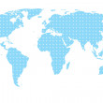 Blue map — Stock Photo