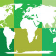 Stock Photo: Green puzzled world map