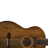Guitare bois brun — Photo