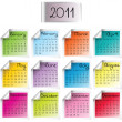 Royalty-Free Stock Photo: 2011 calendar on colored sheets