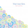 Floral card with sample text - Stock Photo