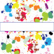 Set of ink spots - Stock Photo