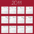 2011 calendar - Stock Photo