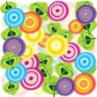 Abstract background with flowers - Stock Photo