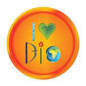 Bio concept badge — Stock Photo
