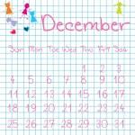 Calendar for December 2011 — Stock Photo #3132940