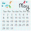 Calendar for May 2011 — Stock Photo