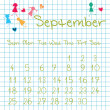 Calendar for September 2011 — Stock Photo