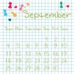 Calendar for September 2011 — Stock Photo