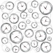 Background with clocks - Stock Photo