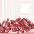 Retro pattern with red squares — Stock Photo