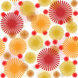 Retro pattern with  colored flowers - Stock Photo
