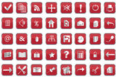 Collection of red web buttons — Stock Photo