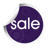 Purple stylized stick with sale — Stock Photo