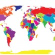 World map in bright tones — Stok fotoğraf