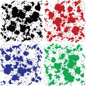 Set of ink spoted backgrounds — Stock Photo