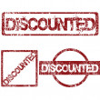 Rubber stamps with Discounted — Stock Photo