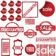 Labels, tags, stamps and stickers - Stock Photo