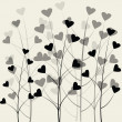 Stylish background with hearts — Stock Photo