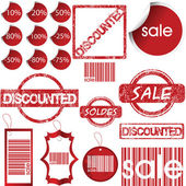 Labels, tags, stamps and stickers — Stock Photo