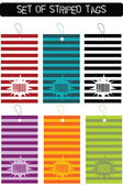 Set of striped tags — Stock Photo