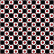 Abstract background in red and black circles — Stock Photo