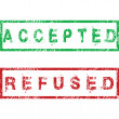 Stock Photo: Accepted and Refused stamps