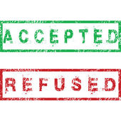 Accepted and Refused stamps — Stock Photo