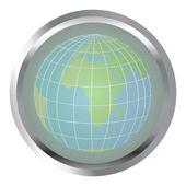 地球地球を持つボタン — ストック写真