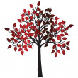 Abstract tree with red leaves — Stock Photo