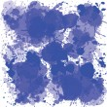 Blue ink spots — Stock Photo