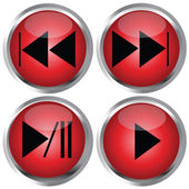 Red Buttons for web design — Stock Photo