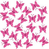 Striped butterflies — Stock Photo