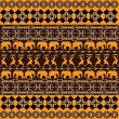 African texture with traditional ornaments - Foto de Stock