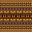 African texture with traditional ornaments - Stock Photo