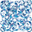 Blue abstract background with circles — Stock Photo