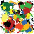 Foto Stock: Colorful paint splash design